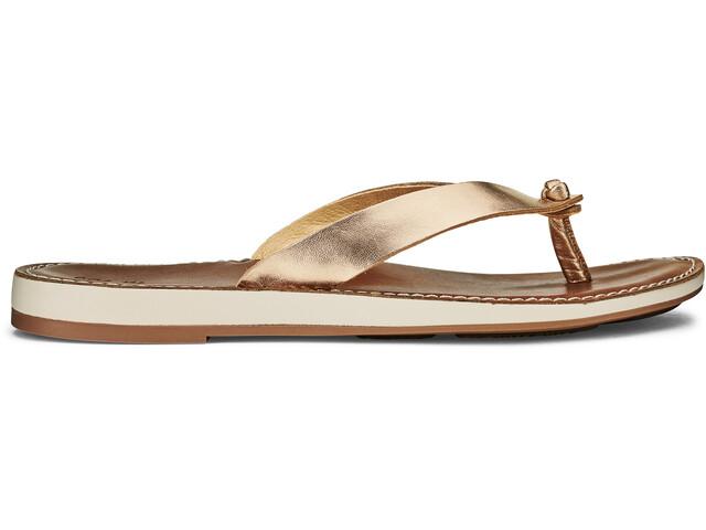 OluKai Nohie Sandals Women tide blue/tan